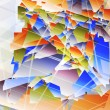 Abstract futuristic background with geometric shapes. - Stok Vektör
