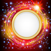 Abstract technology circles background. — Stock Vector