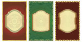Set of vintage gold-framed labels. — 图库矢量图片