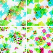 Set of modern seamless patterns. — Stock Vector