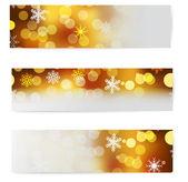 Set of christmas horizontal banners. — Stock Vector