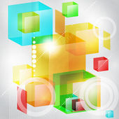 Abstract background of 3d cubes. — Stock Vector