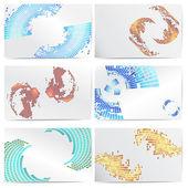 Set of templates for business cards. — Stockvektor