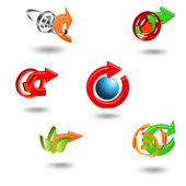 Icons Set for Web Applications, Internet & Website icons. — Stock Vector