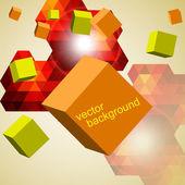Astratto di cubi 3d. — Vettoriale Stock