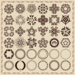 Stock Vector: Set of vintage design elements and frames.