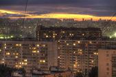 Sunset in an urban area. — Stock Photo