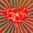 Cтоковый вектор: Futuristic geometric heart on grunge background.