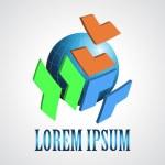 Abstract modern globe logo design template. Creative design ico — Stock Vector