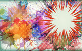 Watercolor explosion - abstract background.  — Stok Vektör