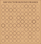 Set of 100  round frames in different styles. — Stock Vector