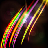 Abstract light color glowing line design against dark background — Vector de stock