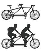 Tandem cyclist — Stock Vector