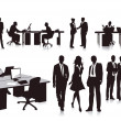 Employees in the office - Stock Vector