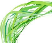 Abstract green movement — Stock Vector