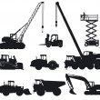 Stock Vector: construction machinery