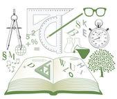 Studies symbolen — Stockvector