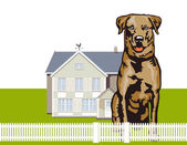 Attentive watchdog — Stock Vector