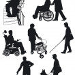 Stockvektor : Disabled person
