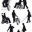 Disabled person — Stockvectorbeeld
