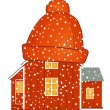 Warm house — Stock Vector