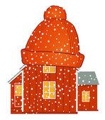 Warm house — Stock Vector