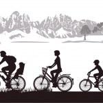 Family Biking — Vector de stock  #13814059