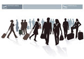 Airport Passengers — Stock Vector
