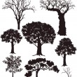 Tree silhouettes — Vector de stock #13833118