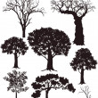 Tree silhouettes - Stock vektor