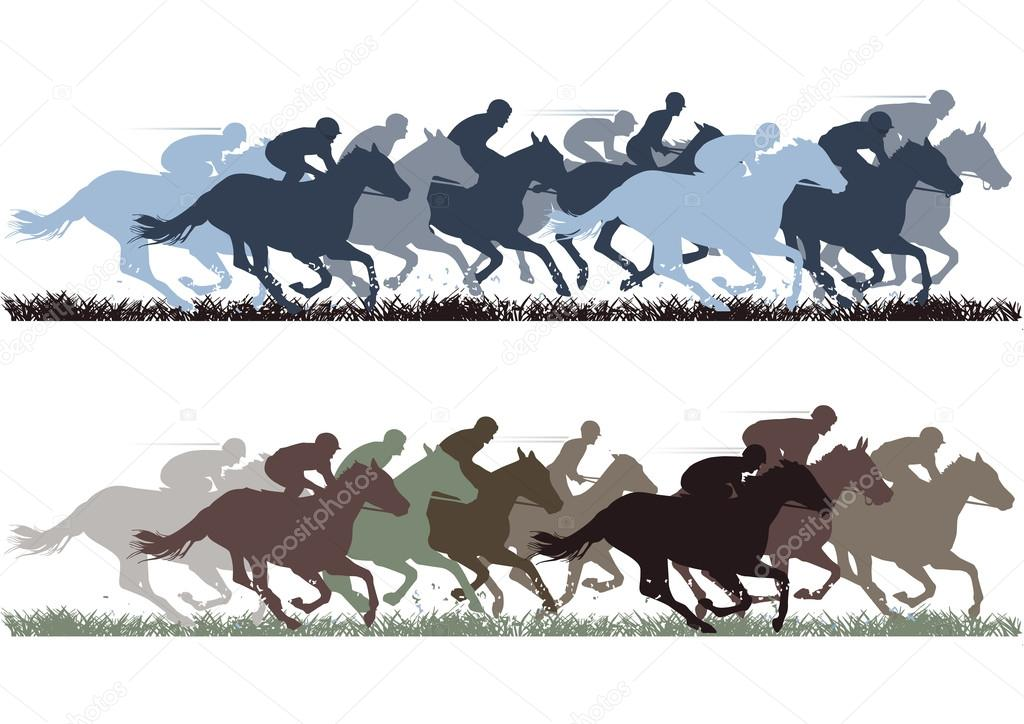Horse Racing — Stock Vector #13898734