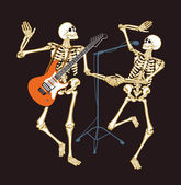 Skeleton concert — Stock Vector