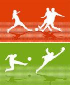 Fußball-sport — Stockvektor