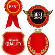 Stock Vector: Quality badges