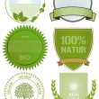 Royalty-Free Stock Vector Image: Organic and fresh food labels and badges