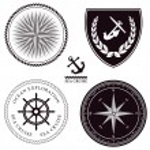 Maritime symbols — Stock Vector