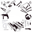 Stock Vector: Hand Tools