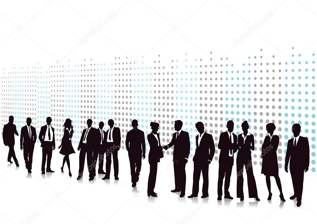 Business men and women  Stock Vector #19996845