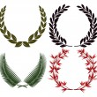 Stock Vector: Laurel wreath and honors