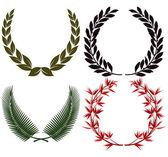 Laurel wreath and honors — Stock Vector