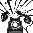 Telephone terror - Stock Vector