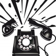 Telephone terror — Stock Vector