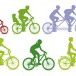 Stock Vector: Cycling