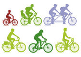 Cycling — Vector de stock