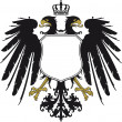 Double-headed eagle with crown — Stock Vector