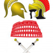 Royalty-Free Stock Vector Image: Legionnaires and Gladiator