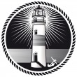 Lighthouse mark — Stock Vector