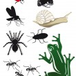 Creepy Crawlies — Vector de stock #22868478