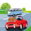 Royalty-Free Stock Vector Image: Cars on the road