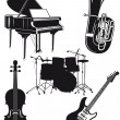Stock Vector: Orchestral Instruments